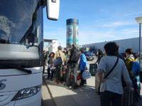コペンハーゲンで専用バスへ