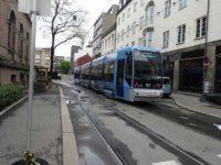 市内を走る電車