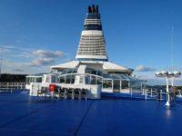 さすが北欧、船の最上階にはサウナも完備
